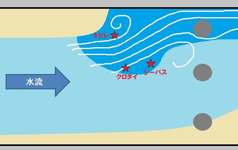例の水門近くのポイントにルアー投げたらドラグがジジジ!(シーバス、クロダイ、キビレ)